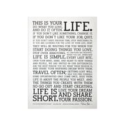 Holstee - The Original Manifesto Poster (White)