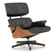 Vitra Lounge Chair, polished / black, rosewood - classic