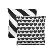 byGraziela - Reversible Pillowcase Hearts 40 x 40cm