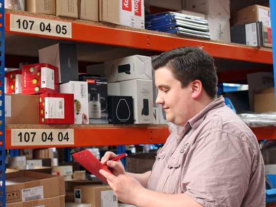 Philipp works in the Connox warehouse