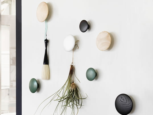 """Wall hooks """"The Dots"""" by Muuto in small, medium and large"""