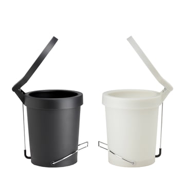 Authentics - Tip pedal bin, white, black