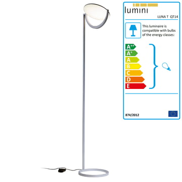 Luna F Floor Lamp QT14 - chromed