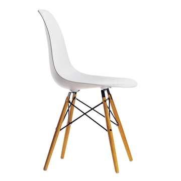Vitra - Eames Plastic Side Chair DSW, yellowish maple / white