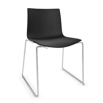 Arper Catifa 46 Chair - sled base, polypropylene, black