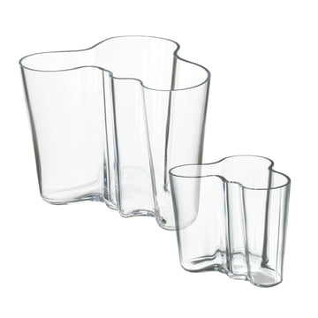 Offer: Alvar Aalto vases set of 2 - clear 160 + 95 mm