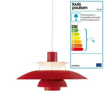 PH 50 pendant lamp, chilli-red
