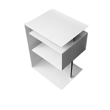 x-centric table, white