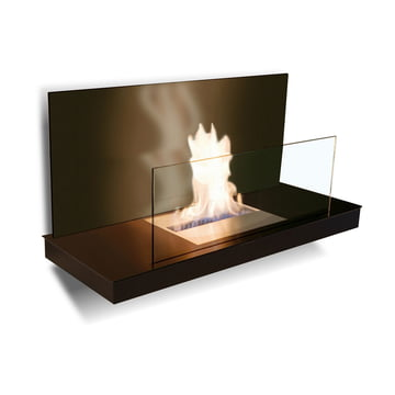 Wallflame II - Steel, black/ glass, black