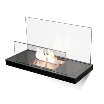 Wallflame II - Stainless steel, high gloss/ glass, transparent