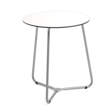 Balcony Bistro Table HPL white