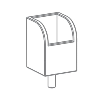 Growing Table - Pen Box, HPL white