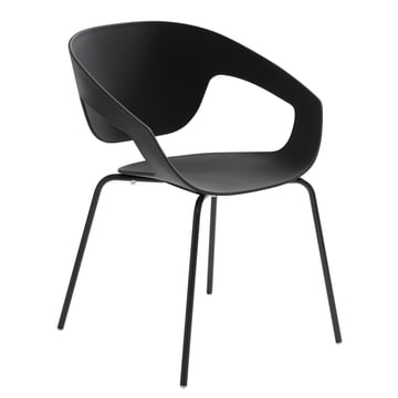Casamania - Vad Chair mit four-legged frame in black