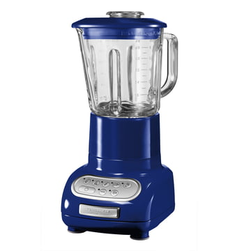 Artisan blender with glass container, blue