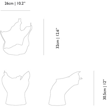 Moooi - Blow Away Vase - Measures