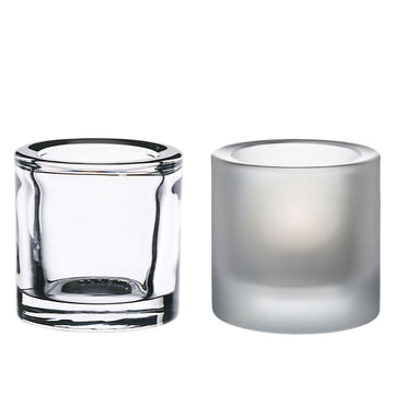 Iittala - Kivi Votive, set of 2 (clear/matt) special edition!