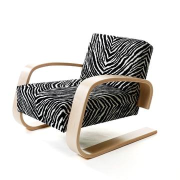 Artek - Armchair 400 - Tank Chair, zebra cover