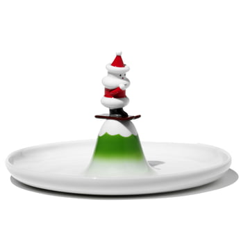 A di Alessi - Pastry plate skiing Santa