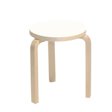Artek Stool 60, white laminate
