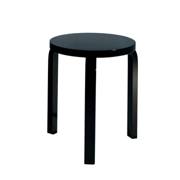 Artek Stool 60, black lacquered
