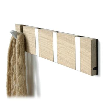 Loca - Knax 4 cloak rail - oak, aluminium