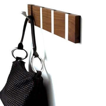Loca - Knax 4 cloak rail - walnut, aluminium