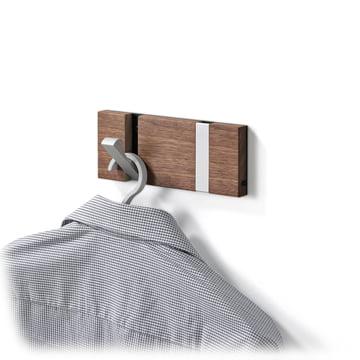 LoCa - Knax 2 hook cloak rail, cherry
