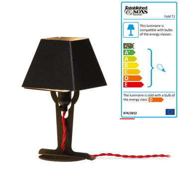 Established & Sons - Fold table lamp T1