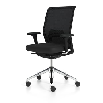 Vitra - ID Mesh Office Chair, nero / aluminium polished