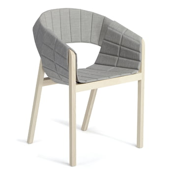 Wogg 42 Lounger, natural ash / light grey Remix