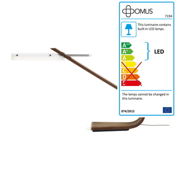 Domus - Ibis Table Lamp LED, walnut