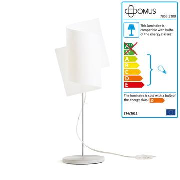 Domus - Loop Table Lamp, aluminium