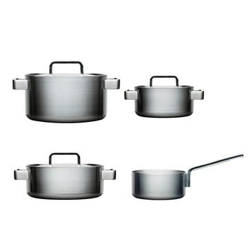 Tools 4 pcs Set: 1 casserole 2l + pot 2, 3, 4 l