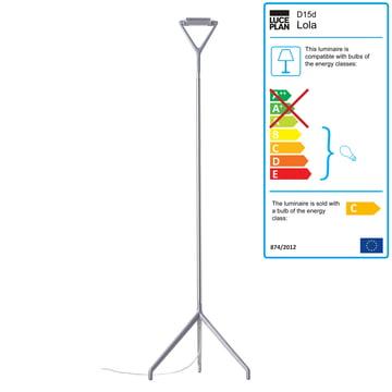 Luceplan - Lola Floor Lamp, alu
