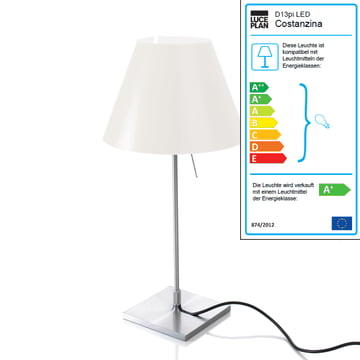 Luceplan - Costanzina Table Lamp 1D13 LED, aluminium / white