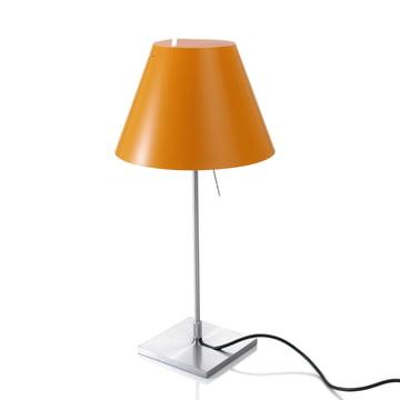 Luceplan - Costanzina Table Lamp 1D13 LED, aluminium / orange
