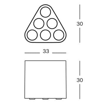 Magis - Poppins Umbrella Stand - dimensions