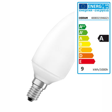 Osram Duluxstar Minicandle Energy Saving Lamp 7W/825 E14