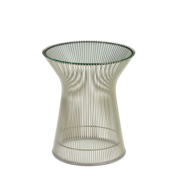 Knoll - Platner Side Table - Nickel polished / Crystal glass