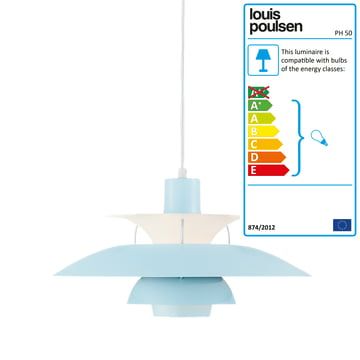 Louis Poulsen - PH 50 Pendant Lamp, mint blue