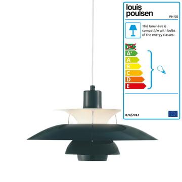 Louis Poulsen - PH 50 Pendant Lamp, olive black