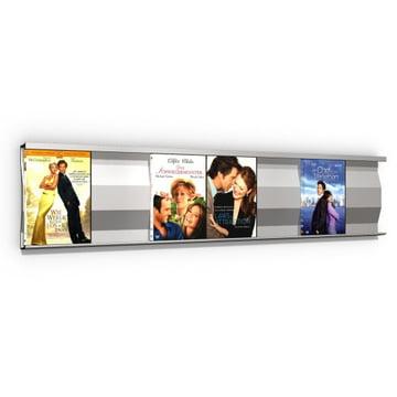 Sigmarail Aluminium DVD shelving system SR7