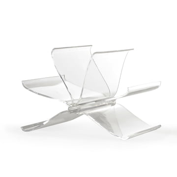 Kartell - Front Page magazines rack, crystal clear