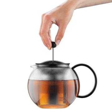 Bodum Assam Tea Maker - stainless steel filter, black