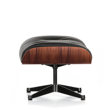Ottoman by Vitra made of palisander, polished / black