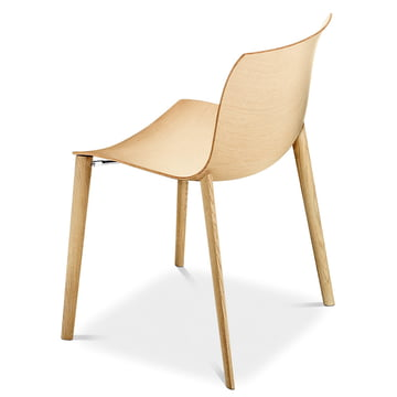 Arper - Catifa 53 chair, wood four-leg frame
