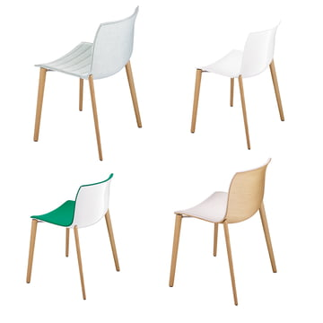 Arper - Catifa 53 Chair wood four-leg frame