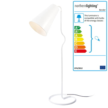 Northern Lighting - Bender floor lamp, white