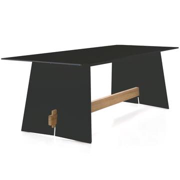 Conmoto - Tension table, anthracite/black/teak