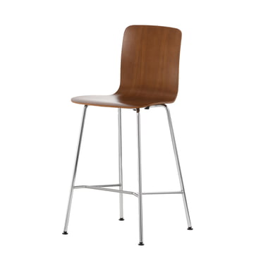 Vitra - Hal Ply Stool medium, walnut